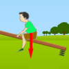 Condición de equilibrio en el balancín