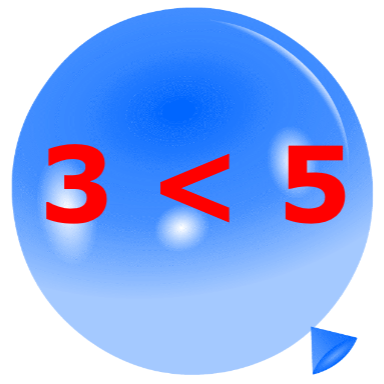 Pincha globos - Compara números
