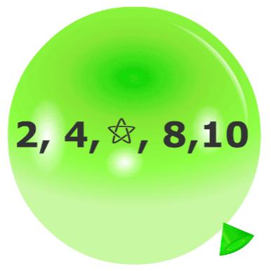 Pincha globos - Secuencias numéricas 1
